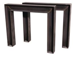 Stalen tafel onderstel model treinrail 10x10cm