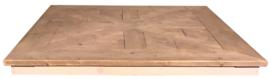 Oud steigerhouten tafelblad vierkant mozaiëk