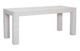 Tafel gemaak van steigerhout schelpwit afm L200xB90cm (voorraad magazijn artikel)