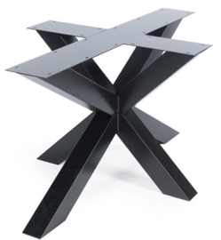 Stalen salon onderstel 3D gepoedercoat koker 10x4cm (Knockdown)