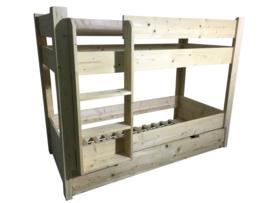 Stapelbed gemaakt van nieuw steigerhout (HHST)