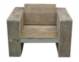 Doe-Het-Zelf bouwpakket  loungestoel van oud of nieuw steigerhout