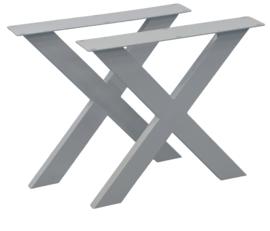 Stalen onderstel X Frontaal 10x4cm