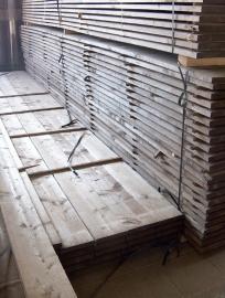 Oude steigerplanken ongeschuurd prijs per meter
