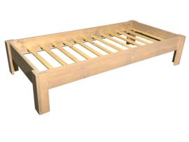 Bed nieuw steigerhout afm: L200xB90cm (voorraad artikel koopjeshoek)