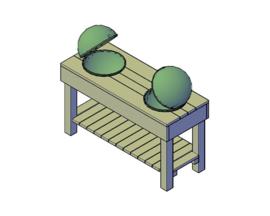 Doe-Het-Zelf bouwpakket steigerhout Tafel tbv 2 Weber BBQs
