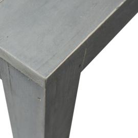Tuintafel steigerhout blokpoot beton grijs
