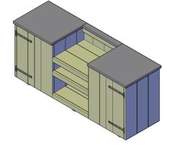 Doe-Het-Zelf bouwpakket steigerhout Buitenkeuken Type D