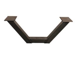Stalen salontafel onderstel model U koker 8x8cm B100xH42,5cm SET prijs (STRIP) (voorraad)