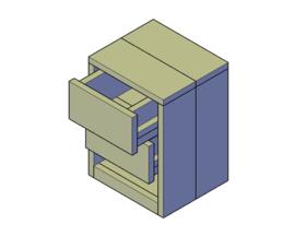Doe-Het-Zelf bouwpakket nachtkastje type C van steigerhout
