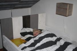 Ilse Bell - kinderbed van nieuw steigerhout in 3 kleuren wash