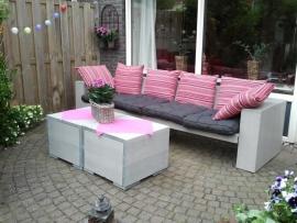 Lounge bank steigerhout grey-wash