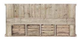 Bed steigerhout fruitkisten Koen oud steigerhout (JPFK)