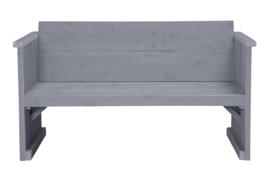 Loungebank 2- zits kleur beton grijs
