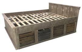 Bed oud steigerhout fruitkisten (clbh)