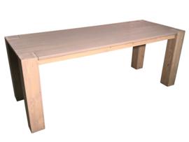 Tafel nieuw steigerhout greywash behandeld afm: L180xB100xH76cm (voorraad magazijn artikel)