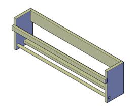 Doe-Het-Zelf bouwpakket badkamerrek steigerhout 60cm lang