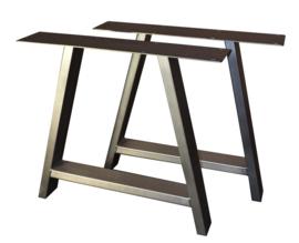 Tafel RVS look onderstel A model koker 10x4cm (STRIP)