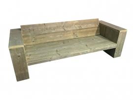 Lounge bank oud steigerhout schuine rugleuning