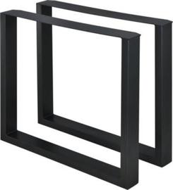 Stalen tafel onderstel model Chantal koker 8x4cm (STRIP)