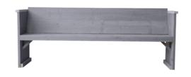 Diner bank steigerhout kleur beton grijs