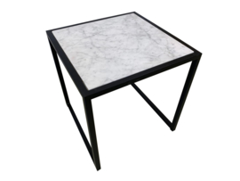 Salontafel bijzettafel marmer Bianco Carrara wit afmeting 44x44cm (incl. onderstel)
