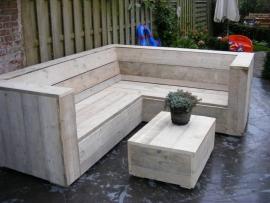 Lounge hoekbank oud steigerhout (lhb)