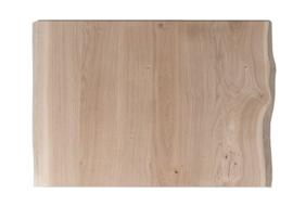 Horeca eiken tafelblad met boomkant vierkant