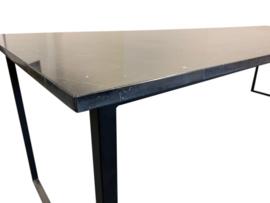 Tafelblad marmer Nero Marquina zwart afmeting 160x80cm