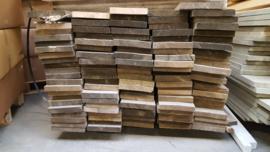 Steigerplanken B kwaliteit 3cm dik ongeschuurd prijs per meter       (Old look)