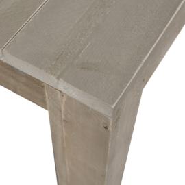 Tuintafel steigerhout blokpoot zand 250x100cm (voorraad magazijn artikel)