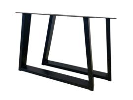 Stalen tafel onderstel model Taps koker 10x4cm