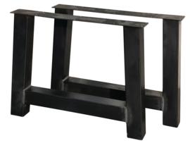 """Stalen tafel onderstel model """"trapezium 10""""koker 10x10cm (STRIP)"""