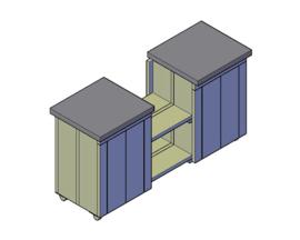 Doe-Het-Zelf bouwpakket steigerhout Buitenkeuken L1960