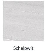 Bed van steigerhout met Schelpwit L200xB80cm (voorraad magazijn artikel)