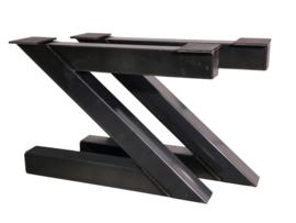 Stalen tafel onderstel model Z koker 12x12cm B110cm x H71cm (voorraad magazijn artikel)