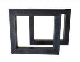 Stalen tafel onderstel model vierkant koker 10x10cm