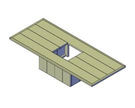 Doe-Het-Zelf bouwpakket steigerhout BBQ loungetafel L2000