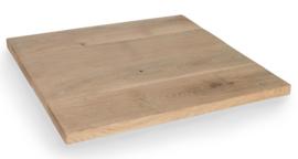 Horeca eiken tafelblad vierkant rechte rand