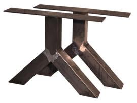 Stalen tafel onderstel model Y koker 12x12cm (STRIP)