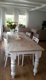 Tafel Queen Anne mozaïek steigerhout