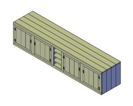 Doe-Het-Zelf bouwpakket steigerhout Buitenkeuken Kast L3700 H810