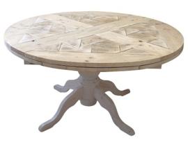 Assortiment Ronde steigerhouten tafels
