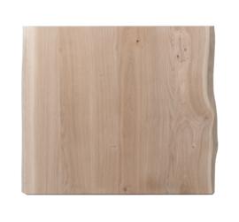 Horeca eiken tafelblad met boomkant rechthoekig