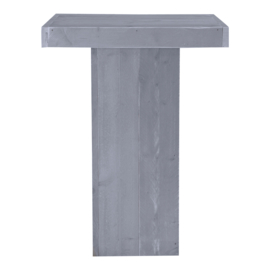 Statafel zuil steigerhout beton grijs