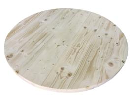 Oud of nieuw steigerhouten tafelblad rond 60mm dik