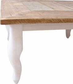 Salontafel steigerhout met verstek blad (90x90)