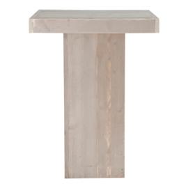 Statafel zuil steigerhout kleur zand