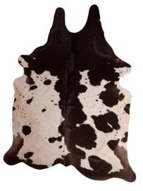 Cow Skin Dark Brown White