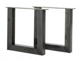 Stalen tafel onderstel model U koker 10x10cm (STRIP)